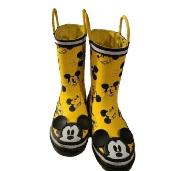 Euc Childrens Mickey Mouse Boots Size 2